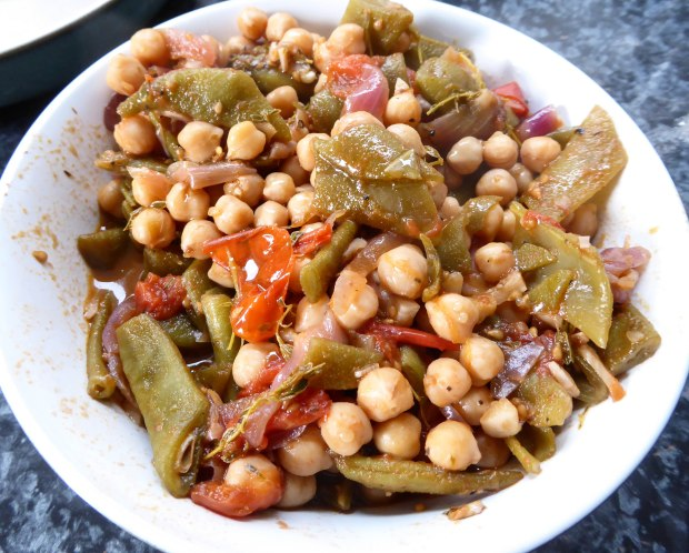 chickpea and bean stew